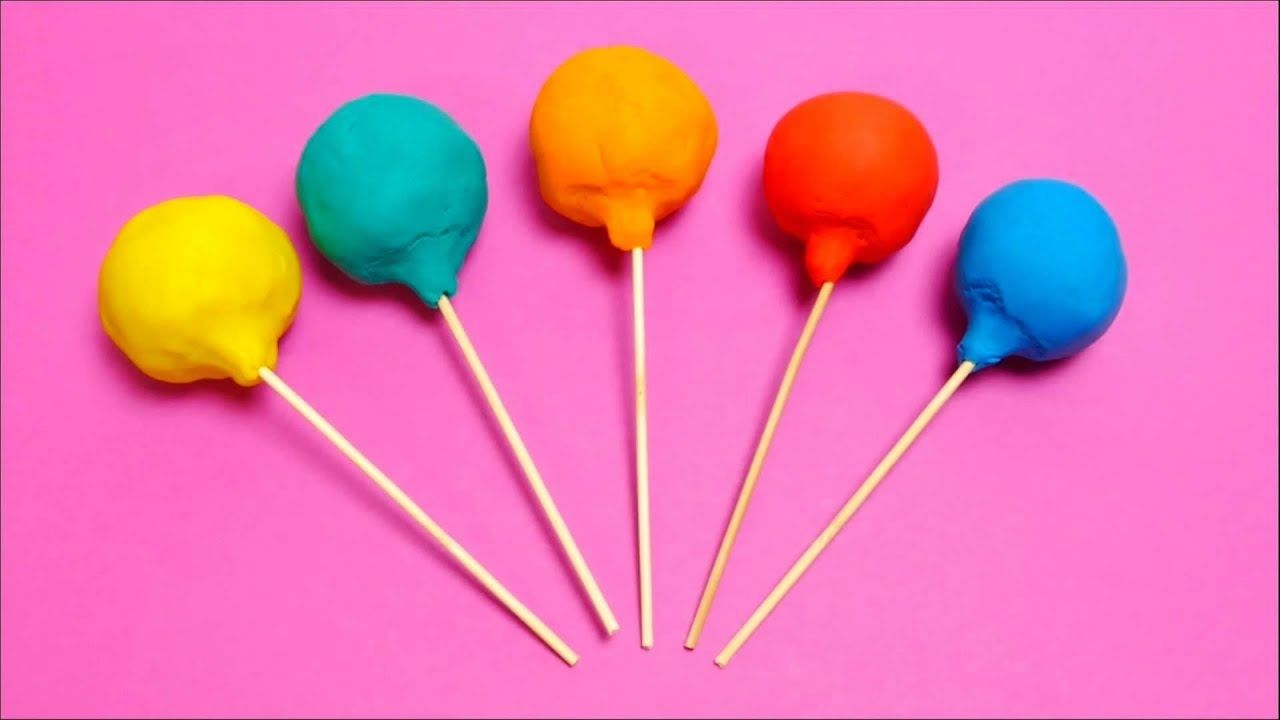 Play-Doh Lollipops with Toy for Kids - English Colour School