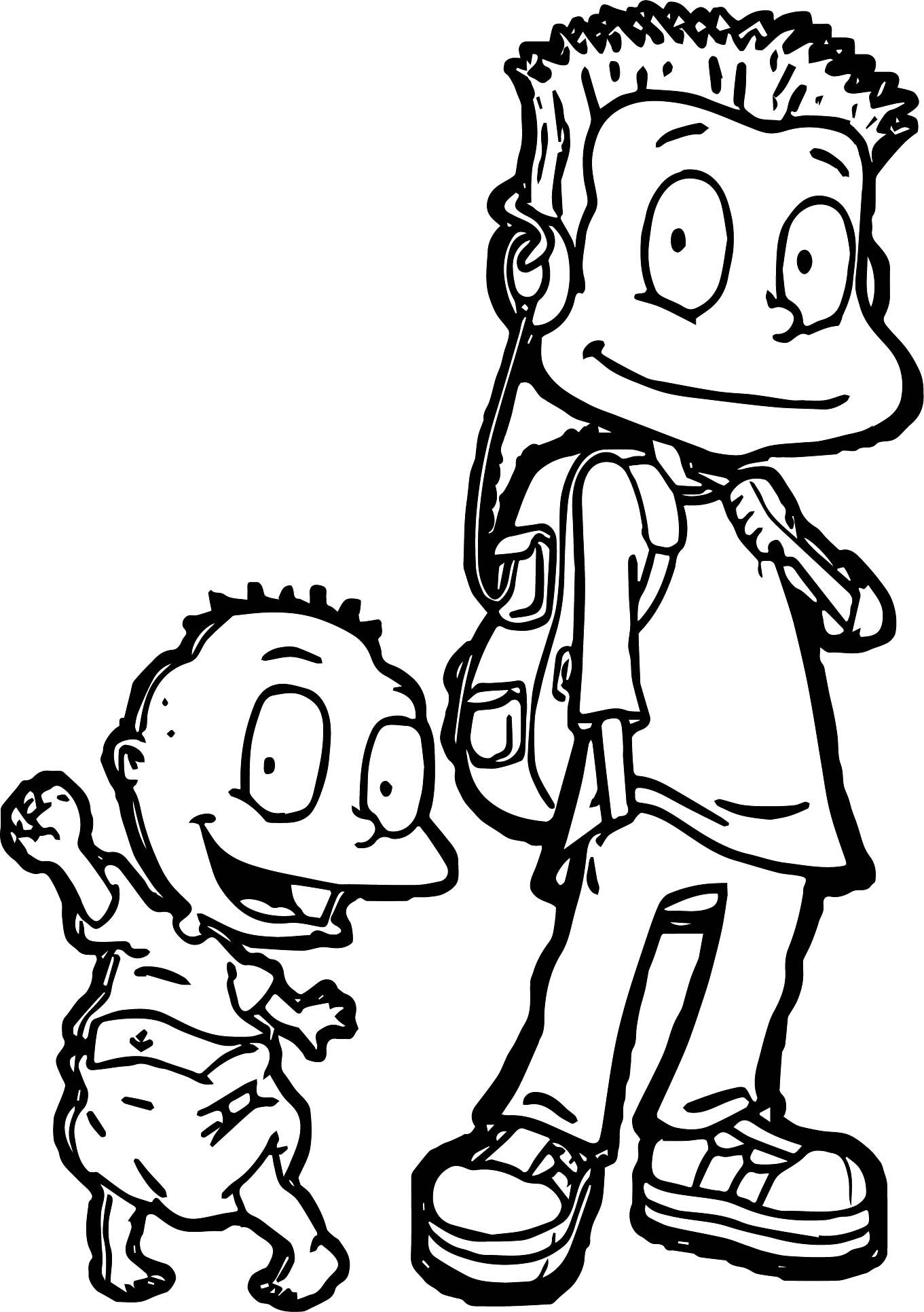 Tommy Pickles Coloring Page | Pickles