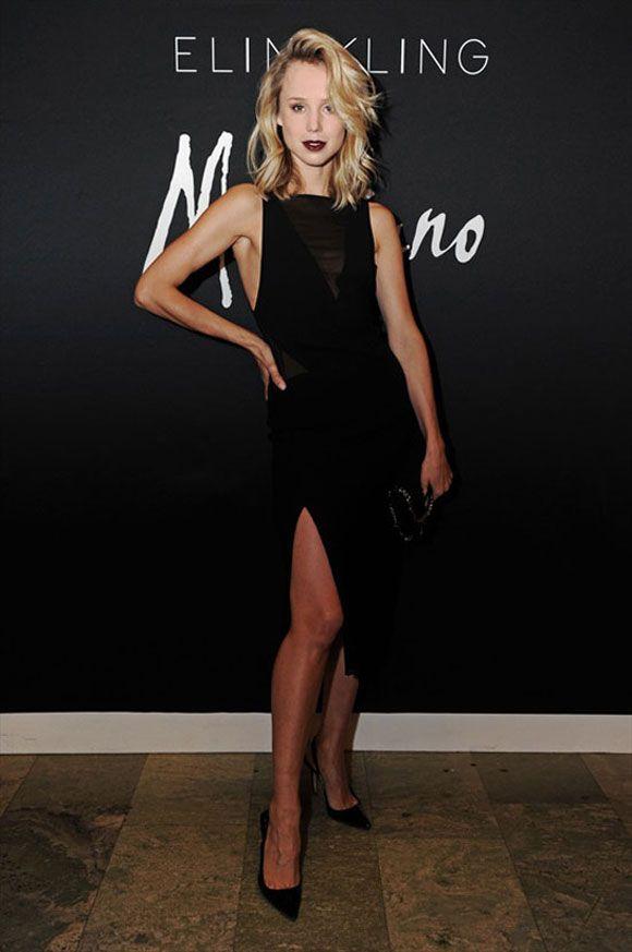 Elin black cocktail dress