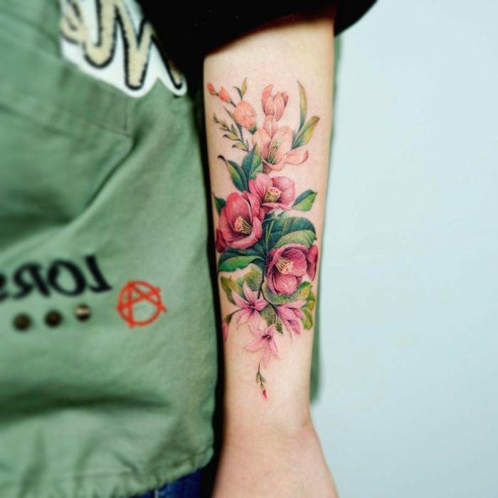 1001 Ideas De Tatuajes De Flores En Diferentes Estilos Tatuajes De Flores Tatuajes Florales Tatuajes