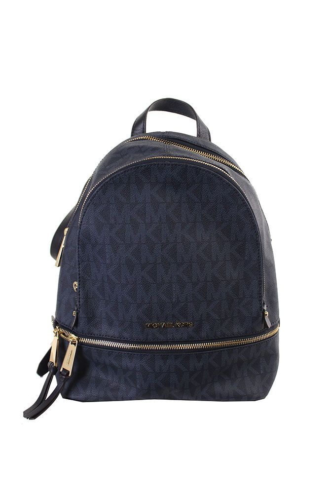 47440b638710 Michael Kors New Baltic Blue Rhea Zip Medium Backpack OSFA $298 | eBay