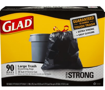 image regarding Glad Trash Bags Printable Coupon referred to as Refreshing $1/1 Pleased Trash Bag Coupon + Promotions at King Kullen, Weis