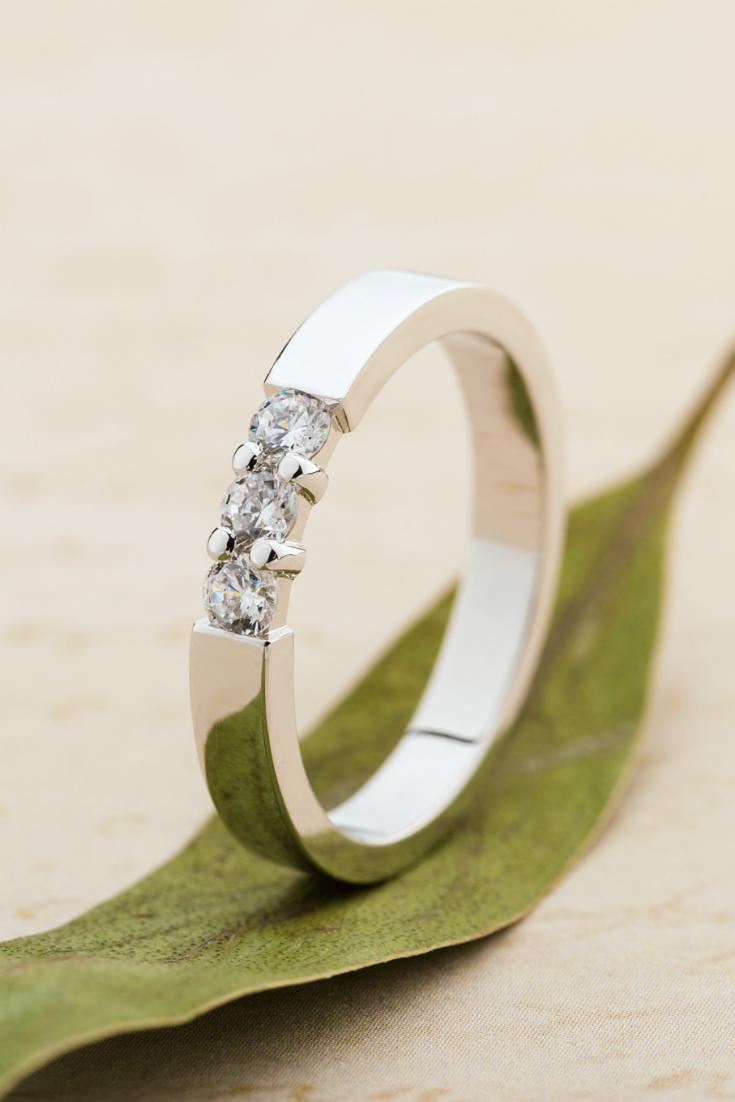Diamond wedding ring. Bridal ring. Womens wedding band ...