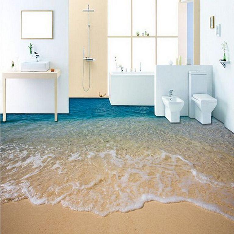 30+ 3D Flooring Ideas For Bathroom_08