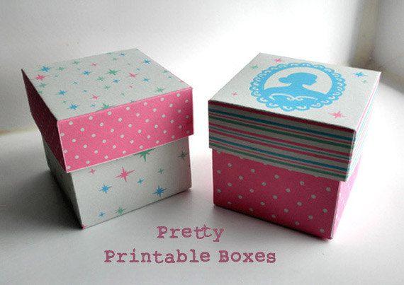 Printable Gift Box Wedding Favor Party favor by DreamingOnAStar #sunday_pink_ddteam