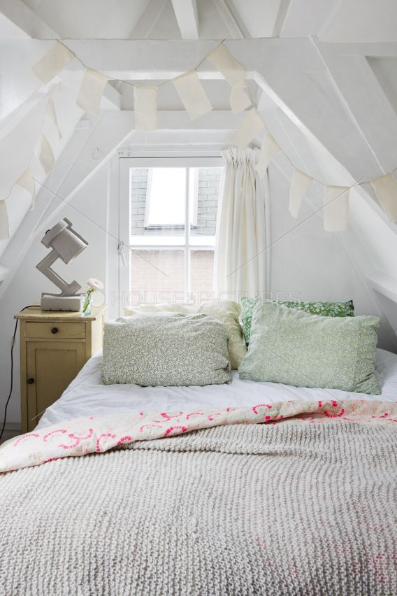 I need to get rid of that clunky lamp but otherwise, what a sweet retreat. Repinned by neafamily.com.