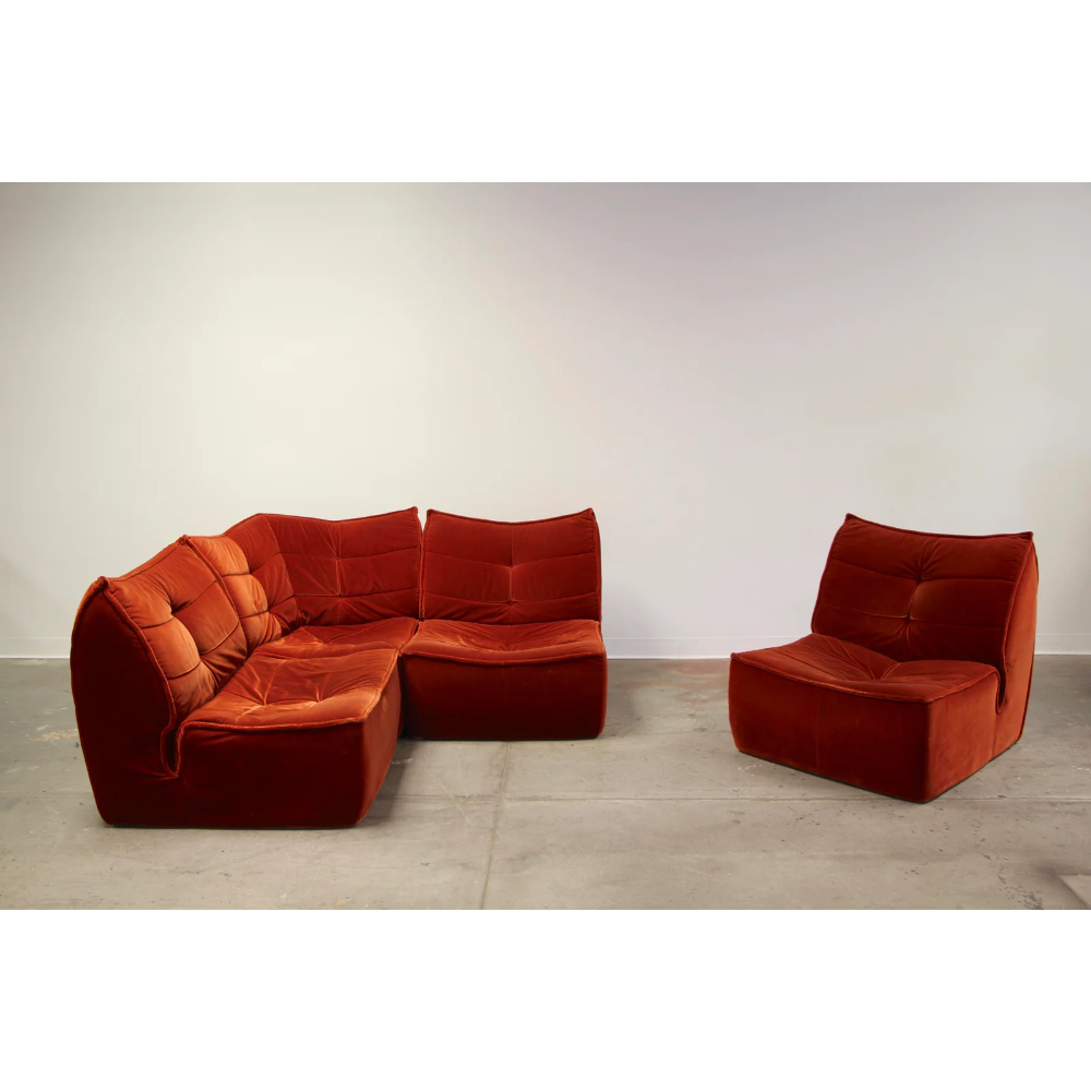 Admirable 1970S French Modular Mohair Sofa Chairish In 2019 Ibusinesslaw Wood Chair Design Ideas Ibusinesslaworg