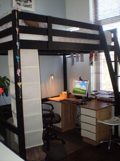 Stora Loft Bed With Images Ikea Loft Bed Lofted Dorm Beds