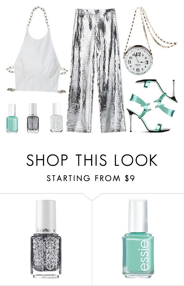 """""""never underestimate me!!!"""" by cami08 ❤ liked on Polyvore featuring Gianvito Rossi and Essie"""