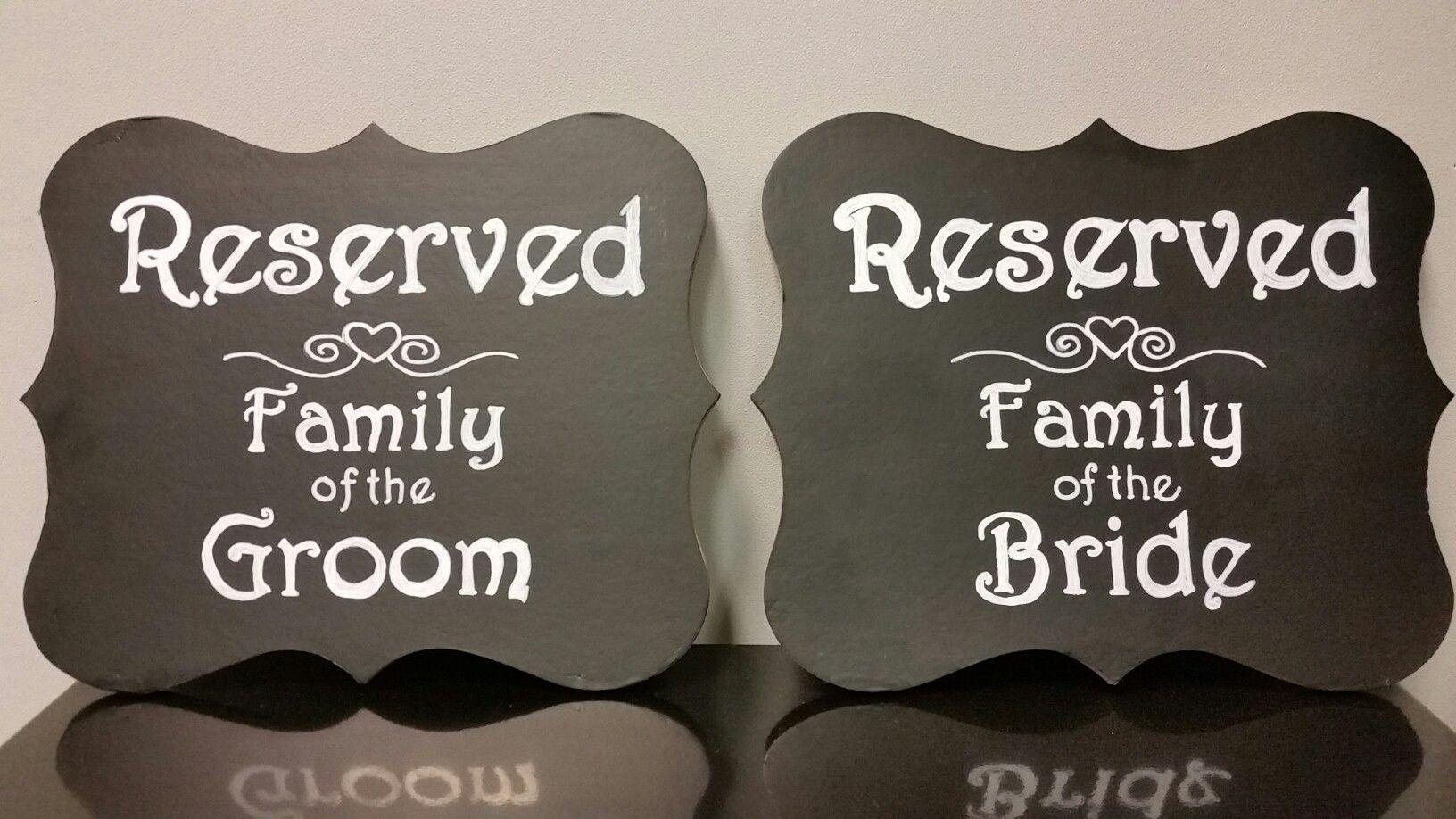 Reserved, chalkboard sign