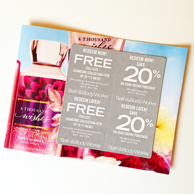 How To Get Bath And Body Works Coupons In The Mail Free Full Size