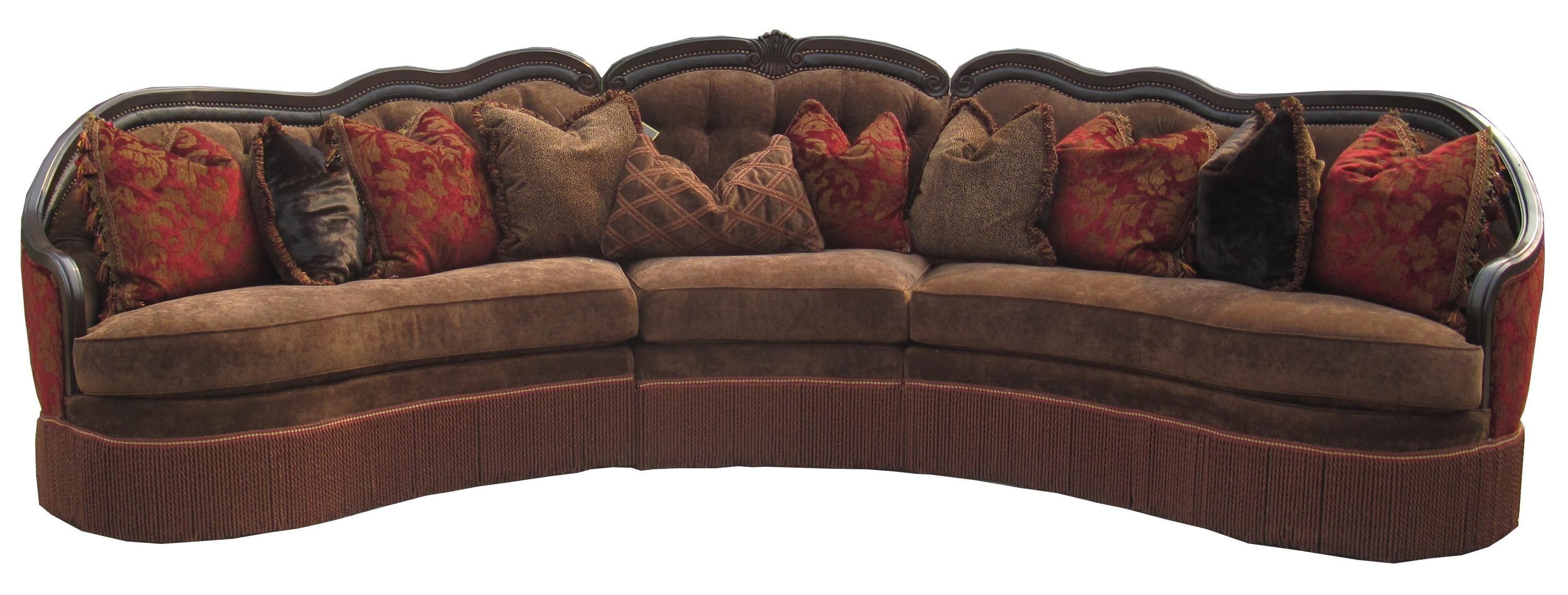 Rachlin Classics Gigi Traditional Three Piece Sectional Sofa With  Decorative Seat Back And Fringe Skirt   Olindeu0027s Furniture   Sofa Sectiona.