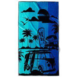 Serviette de plage jacquard Malibu Beach, 440 g/m² La Redoute Interieurs - Serviette de plage
