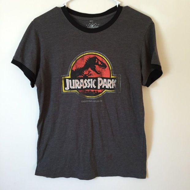 Vintage Jurassic Park Shirt Jurassic Park 90s Shirt 90s Grunge Dinosaur Shirt Dinosaurs Size Small Cool Outfits Cool Shirts Cool T Shirts