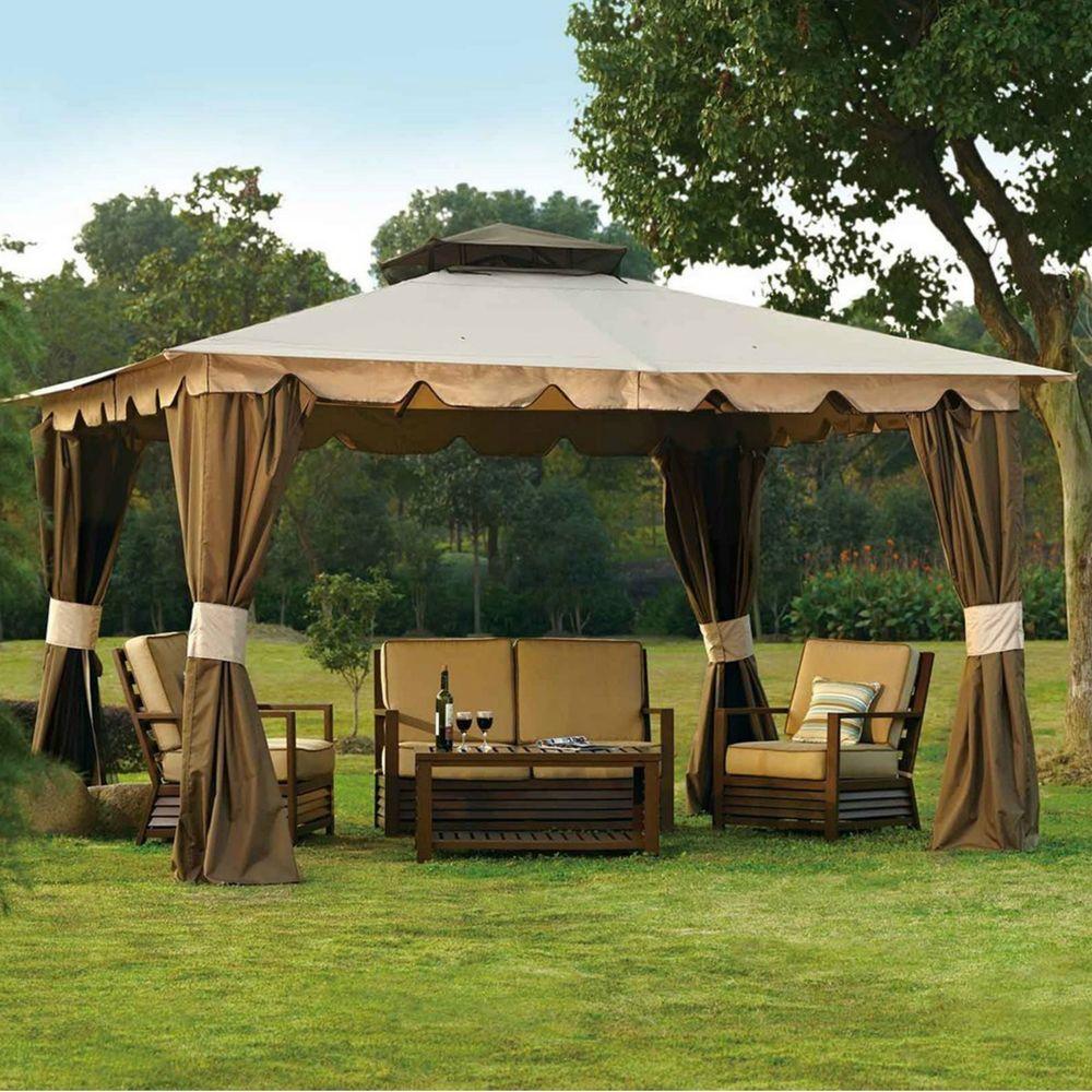 Kiosk Outdoor Canopy Mosquito Netting Garden Sunshade Patio10 x 12 Gazebo Tent & Kiosk Outdoor Canopy Mosquito Netting Garden Sunshade Patio10 x 12 ...