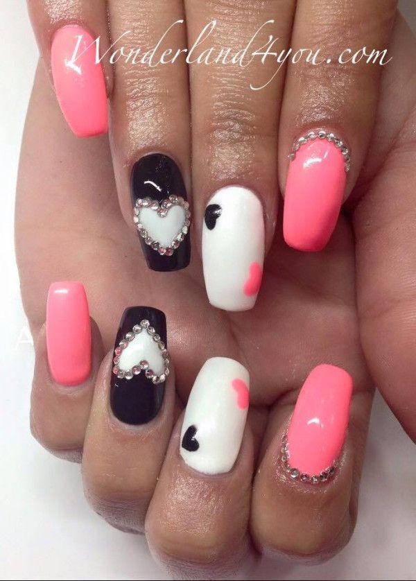 Pink And Silver Pointy Nails - http://www.mycutenails.xyz/pink-and ...