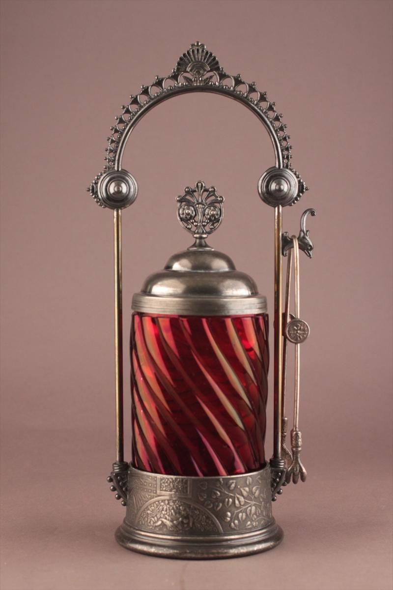 Silverplate Pickle Caster 19/20th C