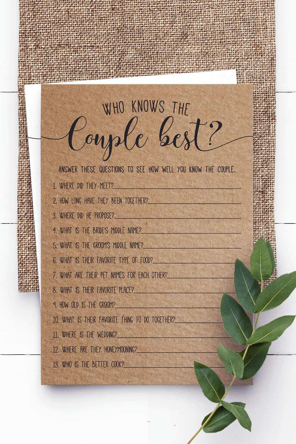 Who Knows The Couple Best ? Bridal Shower Games. Bridal Shower Game. Rustic Bridal Shower Games. Newlyweds Game.,Virtual Bridal Shower