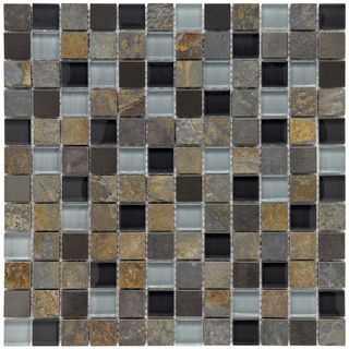 @Overstock - These stunning mosaic tiles by Somertile bring light and style to any room. Made from durable glass and stone materials, they feature black and gray hues and will make the ideal addition to your bathroom, backsplash, and kitchen areas.http://www.overstock.com/Home-Garden/Somertile-Basilica-1-inch-Alloy-Charcoal-Stone-and-Glass-Mosaic-Tiles-Pack-of-10/5784893/product.html?CID=214117 $152.99