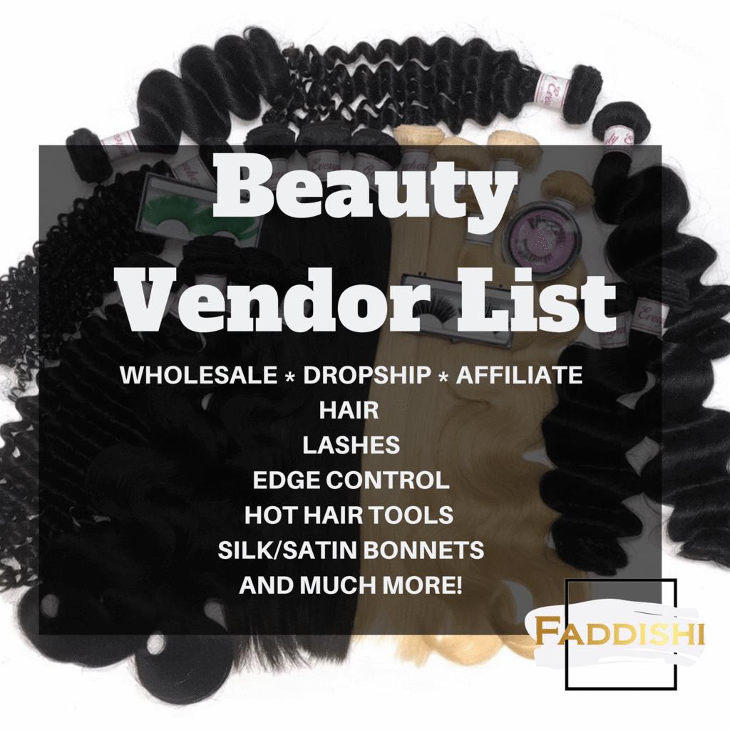 Beauty& Cosmetics Vendor List in 2020 Hot hair tools