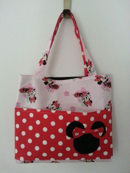 Large Minnie Mouse bag. 100% washable! SOLD