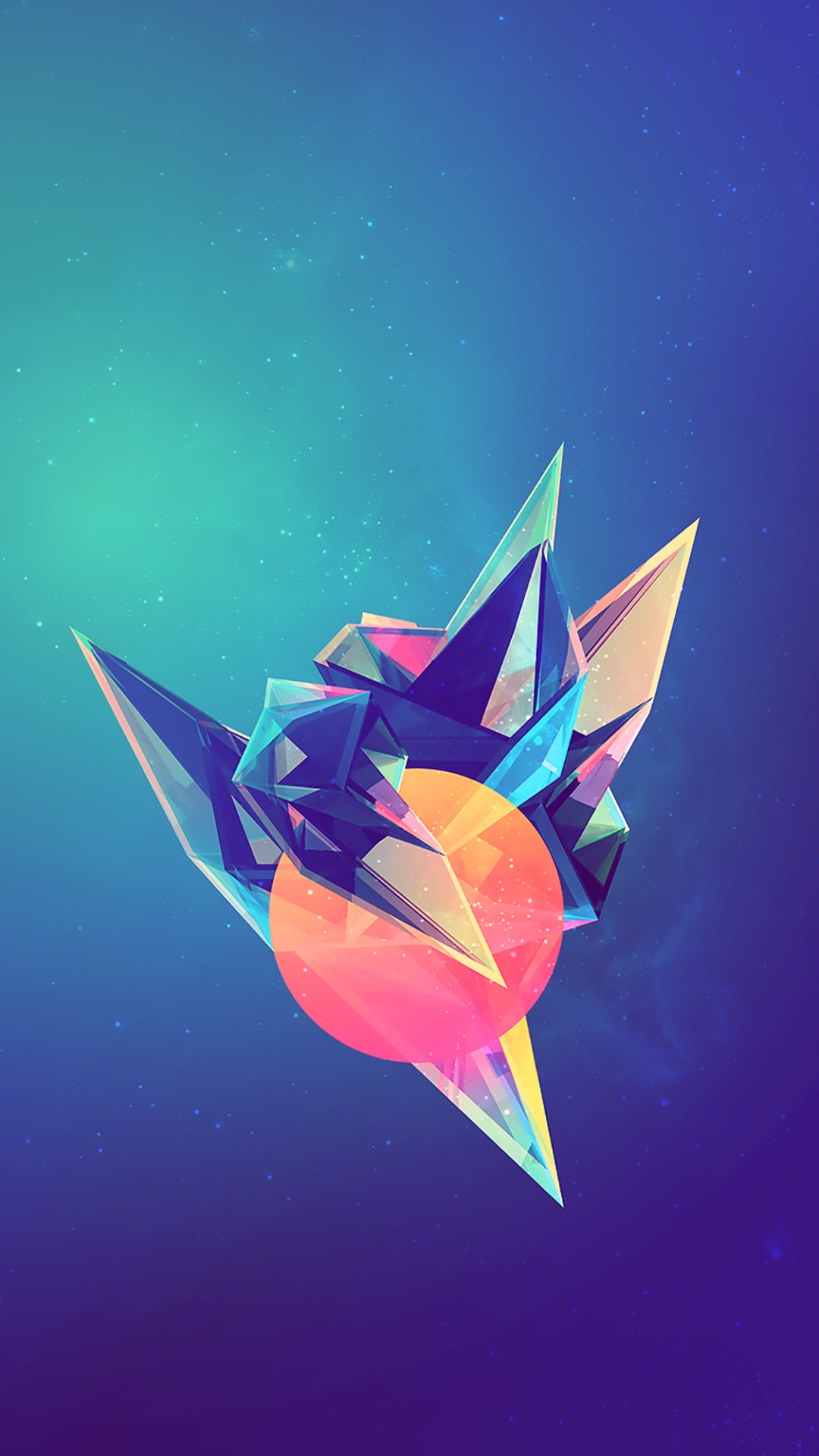 Tap And Get The Free App Art Creative Abstract Blue Pink