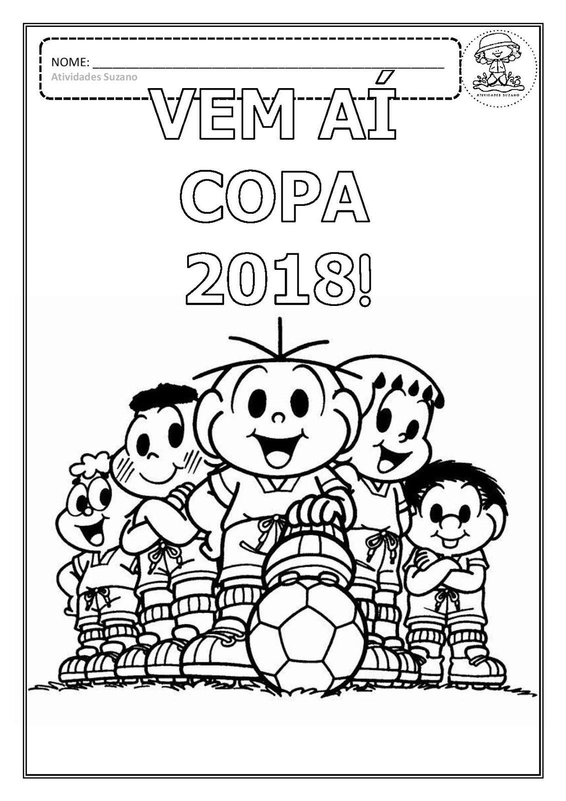 desenhos para colorir copa 2018 em pdf trabalhos para escola