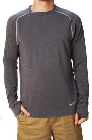 bc9814d3ae2466 Nike Men s Dri-Fit Stay Warm Crew Neck Long Sleeve Running Shirt ...