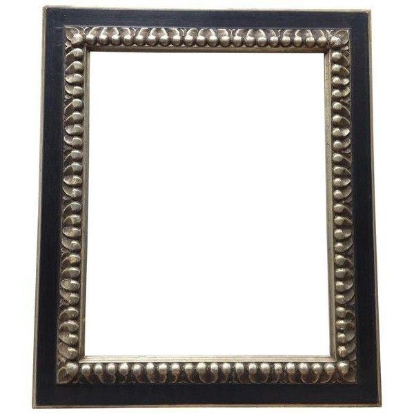 Vintage Black & Silver Carved Wood Frame ($425) ❤ liked on Polyvore ...