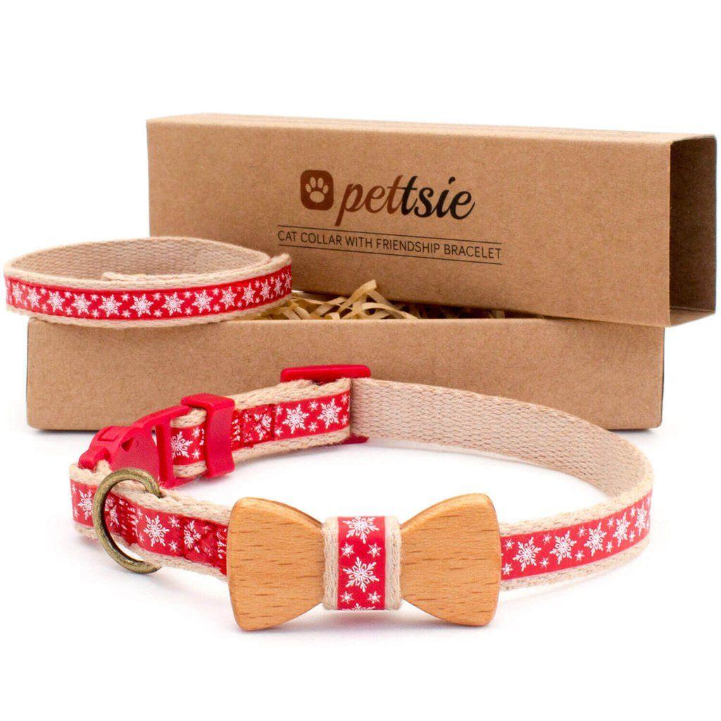 Now On Sale Great Gift Cat Collar With Wood Bow Tie And Friendship Bracelet Love It Collares De Perro De Cuero Ropa Para Perros Collar Perro