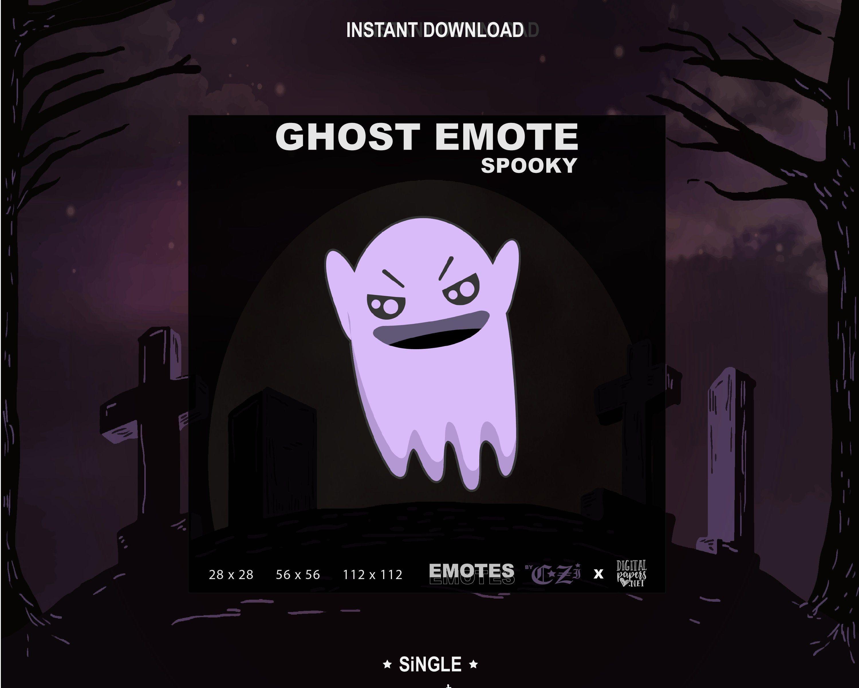Twitch Emotes Halloween Ghost Emote Purple Single Etsy Artist Halloween Halloween Ghosts