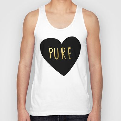Pure Heart Unisex Tank Top by Leah Flores - $22.00