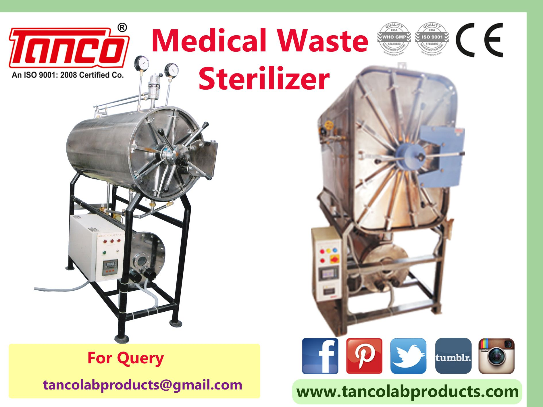 Medical Waste Sterilizer Available In Rectangular
