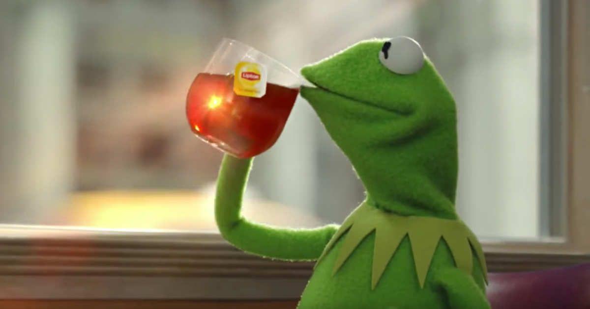 Kermit Drinking Tea Quotes. QuotesGram  |Kermit The Frog Meme Drinking Tea