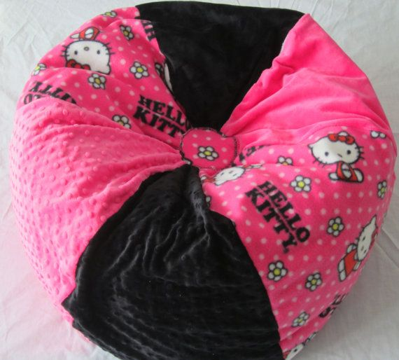 Personalize Hello Kitty Bean Bag Chair Kids By Bluemonkeystyle