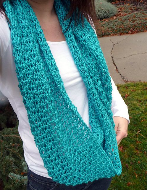 Ravelry Lacey Circle Scarf Pattern By Domestic Bliss Squared