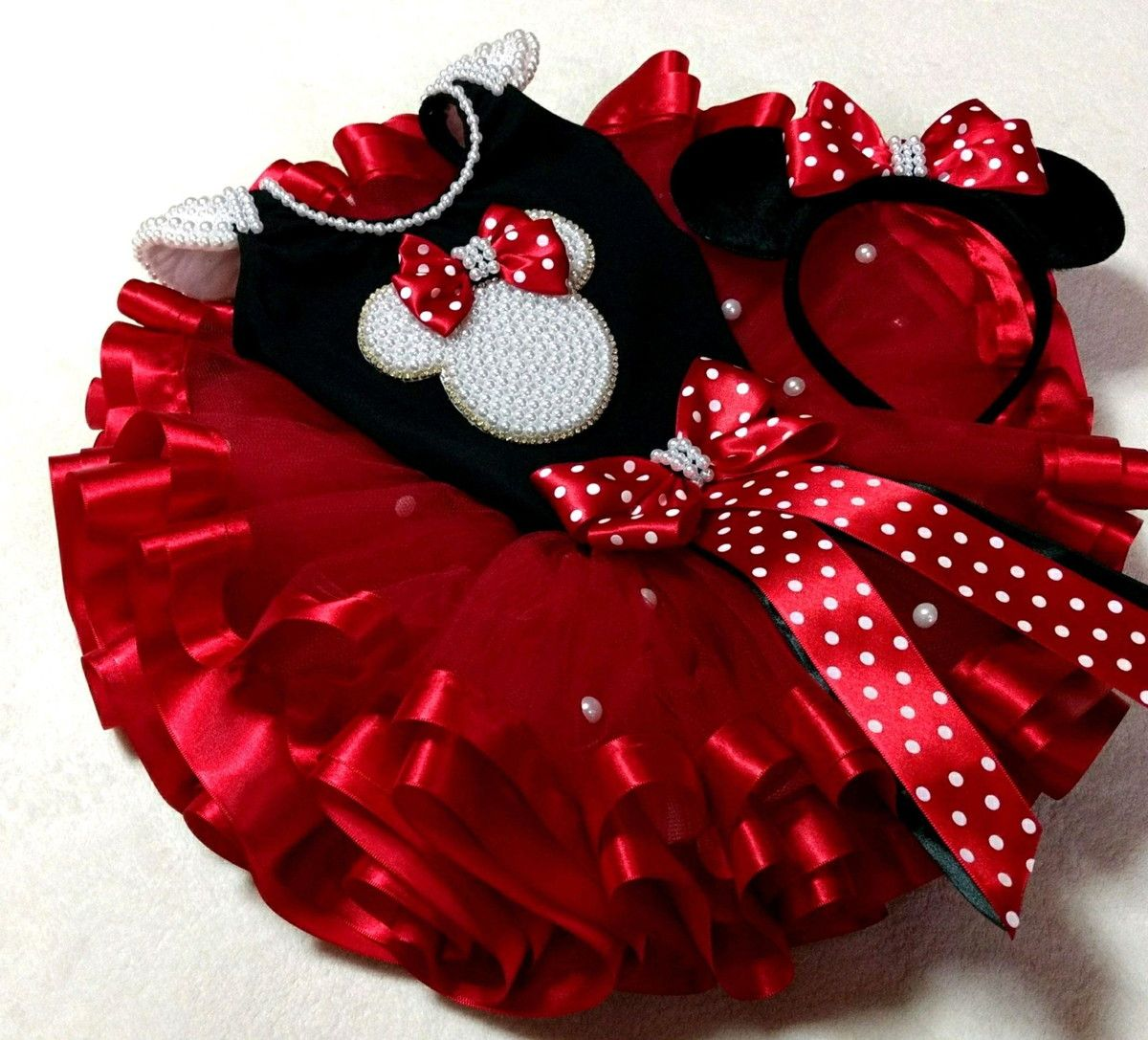 580260142 kit saia tutu Minnie luxo