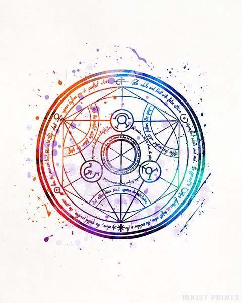 Transmutation Circle Fullmetal Alchemist Print Fma Fullmetal