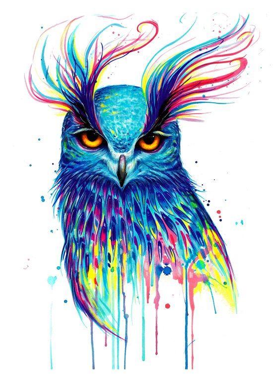 Tatouage Temporaire : Painted Owl. Tatouez-vous pour la semaine avec un tatouage temporaire ...