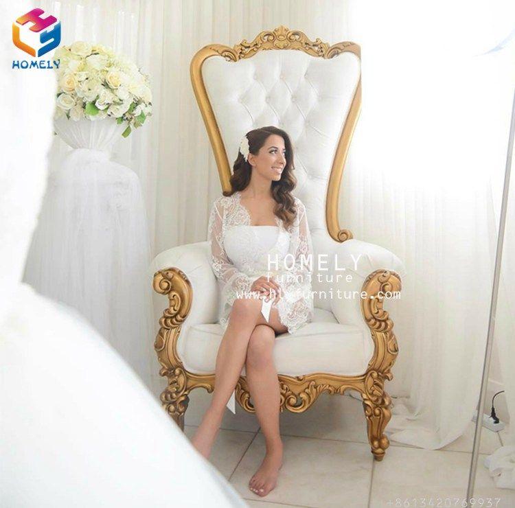 China manufacturing cheap king throne chair Queen chair