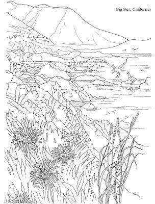 Texifornia Coloring Pages Colorful Landscape Landscape