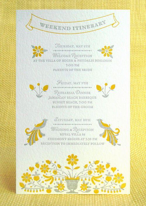 Oh So Beautiful Paper: Erica + Patrick's Modern Folk Art Wedding Invitations