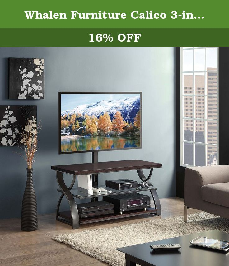 Whalen Furniture Calico 3 In 1 Tv Stand 54 Inch 54 Inch 3 In 1