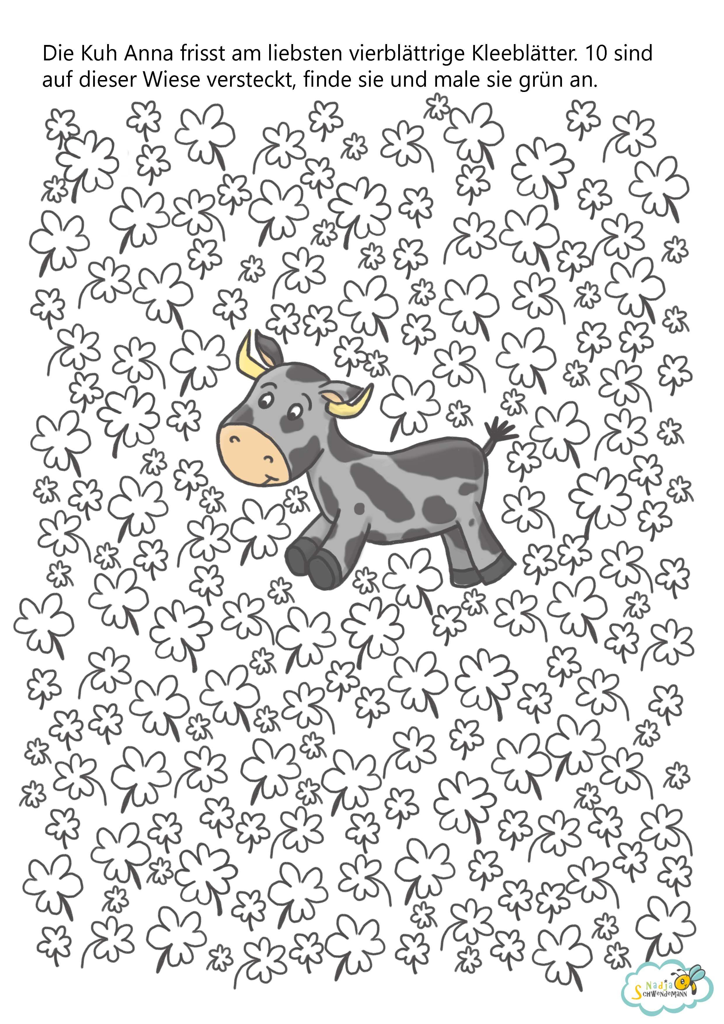 arbeitsblatt kleeblattsuche als freebie boyamalar arbeitsbl tter vorschule vorschulbl tter. Black Bedroom Furniture Sets. Home Design Ideas