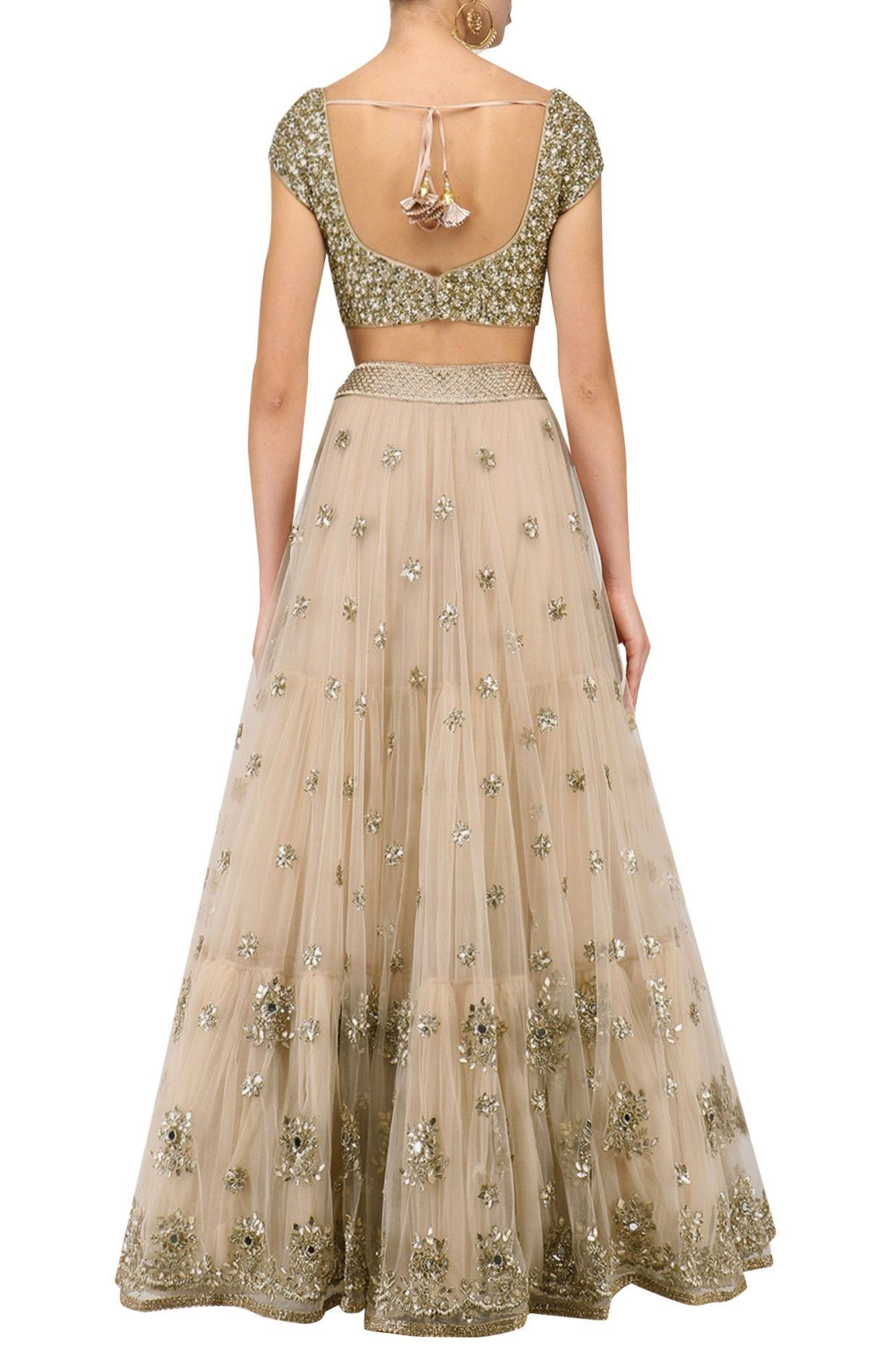 fecafdb17 Beautiful champagne gold sequins lehenga with gorgeous latkans. Click on  image for price. #Frugal2Fab