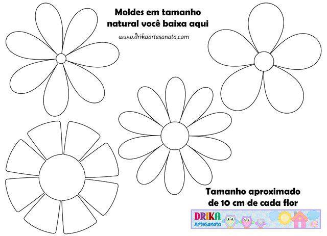 Moldes Gratis Mais De 144 Moldes De Flores E Folhas De Diferentes