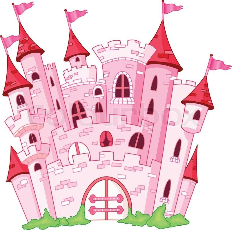 Pink princess castle | Vector | Colourbox on Colourbox