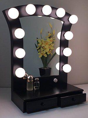Hollywood cosmo lighted make up vanity back stage mirror black by hollywood cosmo lighted make up vanity back stage mirror black by impressions vanity aloadofball Choice Image