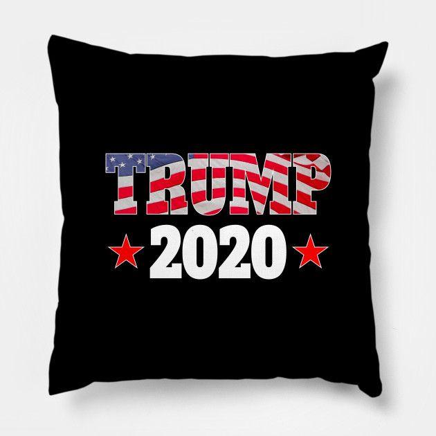 Best Pillows 2020.Usa Trump 2020 Red Stars Trump 2020 Pillow Teepublic