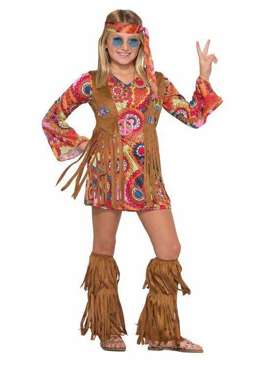Girls Peace  Love Hippie Costume Halloween costumes Pinterest